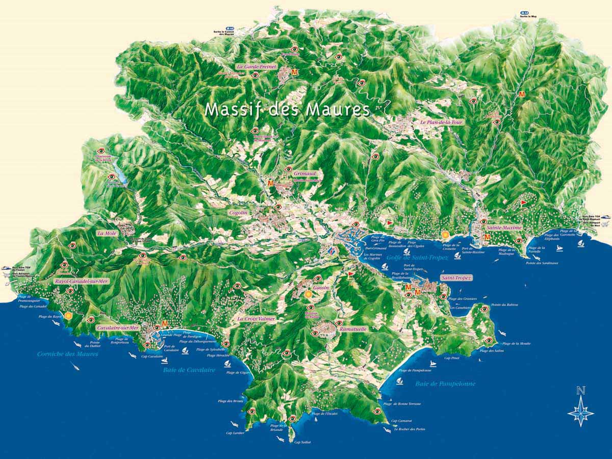 Balades randonn es site officiel de l 39 office de tourisme de sainte maxime - Office du tourisme saint maxime ...