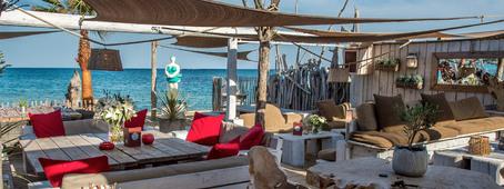 Restaurant bar de plage
